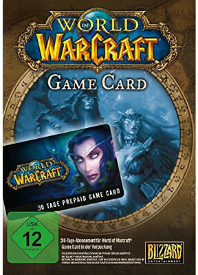 WORLD of WARCRAFT PREPAID TIME 30 TAGE GAMECARD WoW EU/DE
