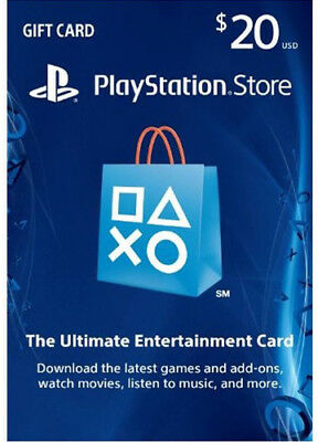 US $20 PLAYSTATION NETWORK Prepaid Card PSN für PS4 PS3 PSP