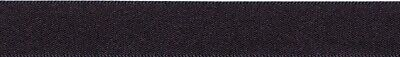Berisfords Double Faced Satin Ribbon 50mm Black - sold by the metre