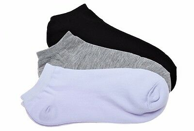 Mens Womens Ankle Low Cut Basic Casual High Quality Cotton Daily Comfy Socks