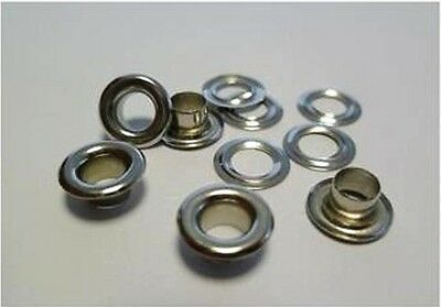 250 Pieces EYELETS 5,0 mm rust-free NICKEL PLATED SILVER RIVETS,f. LEATHER,