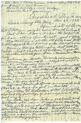 1929  Letter from Jennie Sheldon Bowden Brodhead Wisconsin to Beulah