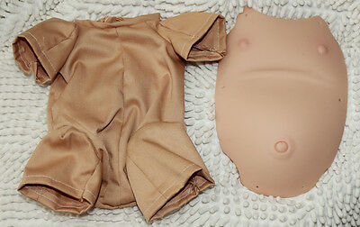 """Reborn Baby Doll Belly Plate and Clothes Body for 20-22"""" Soft Vinyl Reborn Kit"""