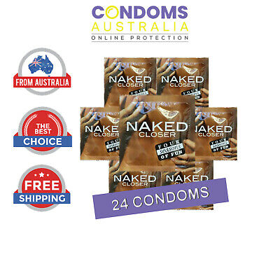 Four Seasons Naked Closer Tighter Fit 24 Condoms FREE SHIPPING