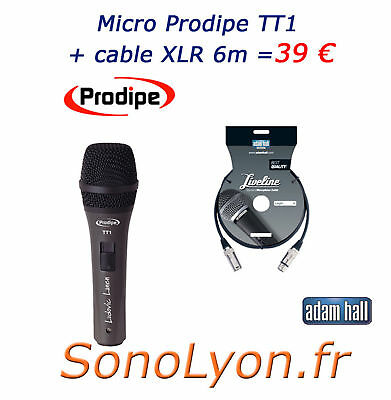 Micro - Microphone Pro - Chant - Prodipe TT1  +cable