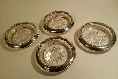 Wes Blackinton silverplate coasters set of 4.