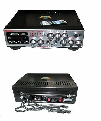 Free* Amplificatore Ma-009 Audio Stereo Display Digitale Microfoni Usb Sd Rca Fm