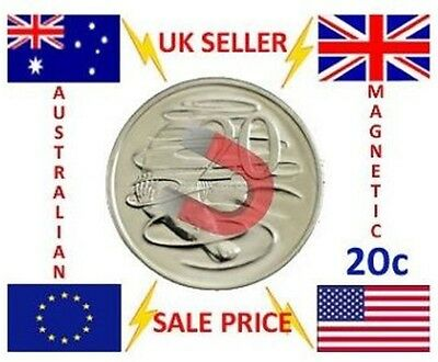 Strong Magnetic 20 Cent Aud Australian Dollar Magic Trick Coin - Magnetic Magic