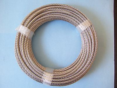 304 Stainless Steel Wire Rope Cable, 5/16, 7x19, 100 ft