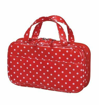 sewing set open zipper bag type MISASA Polka dot RED From Japan