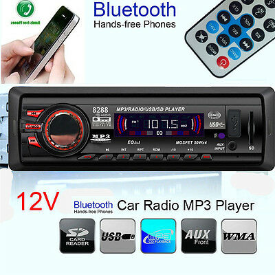 Car Stereo bluetooth Audio In-Dash FM Aux Input with SD USB MP3 Radio Player