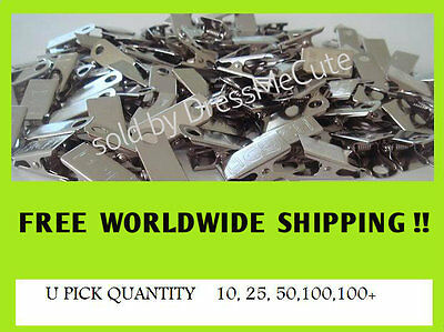 100  metal clips for id badge crafts, pacifier holder