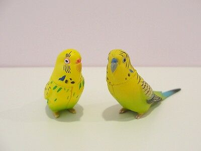 Cute Parakeet Couple Mini Figure Set New Rare Import!