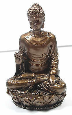 NEW! Small Shakyamuni Statue Figurine Bronze Resin Finish Buddha Tibetan Gift