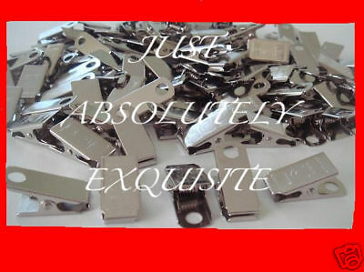 50  metal clips for id badge crafts, pacifier holder