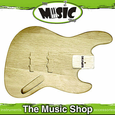New DR Parts Jazz Bass Guitar Style Alder Body - Sanded & Sealed - ZB102