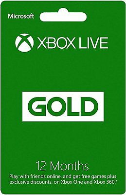 12 Month Xbox Live 1 Year Gold Membership Subscription Card -[AU]-FAST DISPATCH