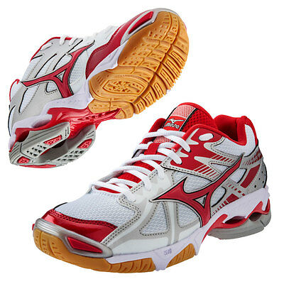 Mizuno Wave Bolt 4 Women's Volleyball Shoes - White/Red - 9.5