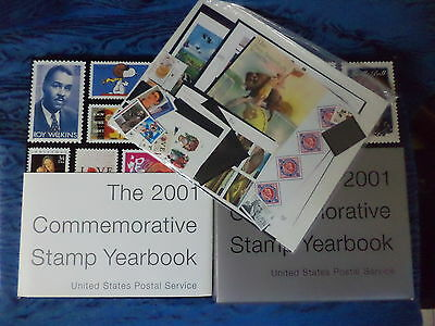 (4) United States Postal Service 2001 Commemorative Stamp Yearbook -