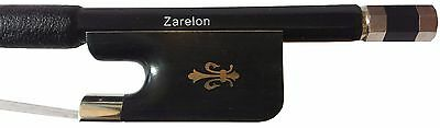 4/4 Carbon Fiber French Bass Bow with Zarelon Unbreakable Acoustic Bow Hair
