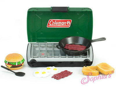 "Sophia's COLEMAN CAMP STOVE & FOOD SET - GREEN for 18"" Dolls American Girl NEW"
