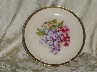 Vintage Hand Painted Collector Plate Germany Grape design
