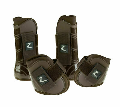 Horze Protection Shock Absorb Jumping Tendon & Fetlock Boot Set - Pony Cob Full