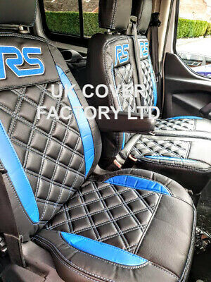 New Ford Transit Custom Van Seat Covers  Made To Measure Grey Same Day Dispatch!