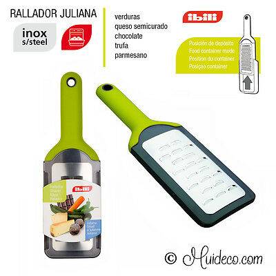 Rallador Juliana Manual con Deposito para Queso Verduras Chocolate Trufa IBILI