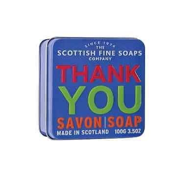 The Scottish Fine Soaps Company Thank You Soap In A Tin 100g