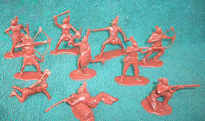Classic Toy Soldiers Mohawk Indians 12 figures in 54mm plastic