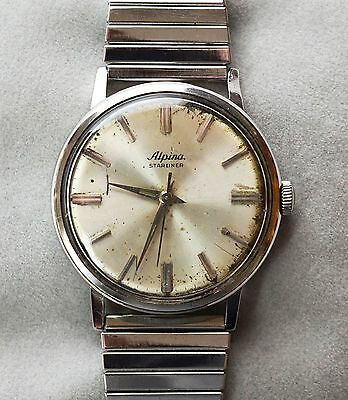 Alpina Starliner Swiss made Armbanduhr mechanisch Handaufzug Herrenuhr 1960er