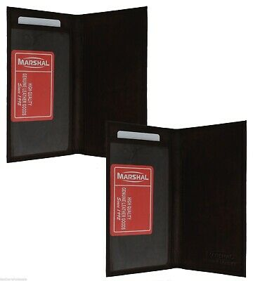 Checkbook Cover Plain Set Of 2 Brown Genuine Leather New Great Gift Idea 1