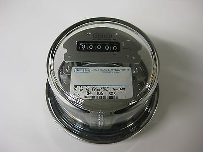 Landis-Gyr Electric Watthour Meter Easy Read 240v 120v 200a Rest to Zero RV Home
