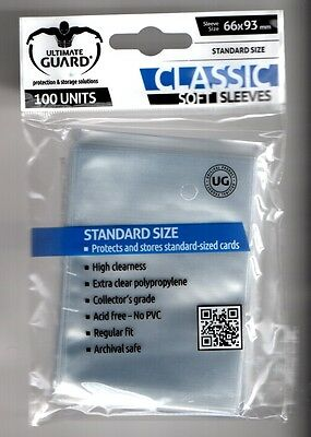 Ultimate Guard-100 Units-Soft Sleeves-Schutzhüllen-Trading Card Protect-Neu-New