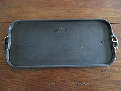 Wagner Ware Sidney -0- Cast Iron Long Griddle #8 Cleaned & Seasoned