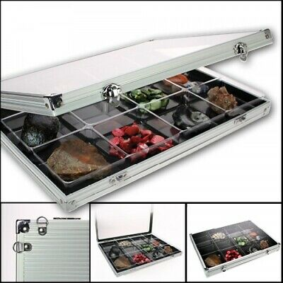 Aluminum Display Case with 12 Compartments