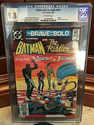 Brave And The Bold #183 Cgc 9.8 Nm/mt Riddler App & Nemesis Story (C1)(Id 4088)