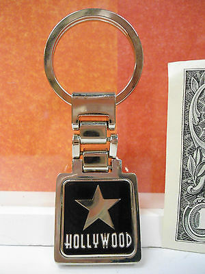 Hollywood Star Souvenir Keychain 3.0 Inches New Black Color