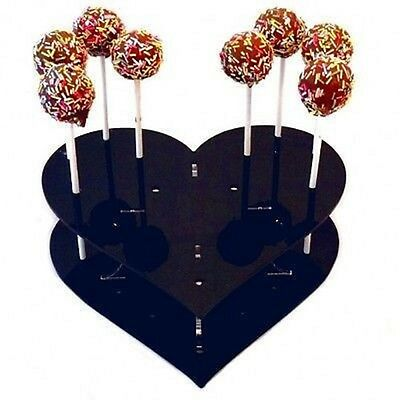 Heart Cake Pop Stand - Black