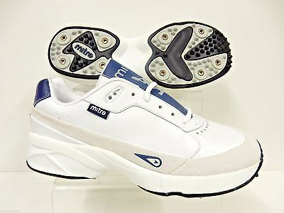 Mitre County Cricket Shoe Full Spike White