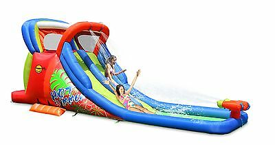 Duplay Hot Summer Kids 20ft Double Inflatable Waterslide with Water Cannons 9129