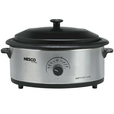 Nesco 4816-25-30 6 Qt Stainless Steel Non stick Cookwell Blk Lid