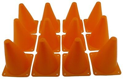 Orange Training Aid Cones Tall Sports Traffic Safety Soccer Football Cone Lot 7""