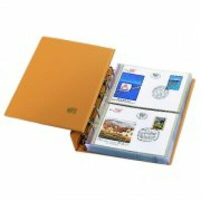 First Day Cover Albums-Compact Tan Luxus Package w/Transparent Pages