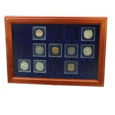 Coin Holder Case-Glass Display for 2x2 Coin Flips
