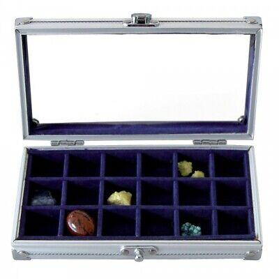Aluminum Display Case Mini for Rocks & Minerals