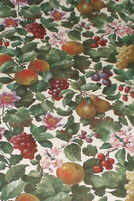 Assorted Fruits & Flowers on Cream with Antique Gold Crackle Finish 87-61961