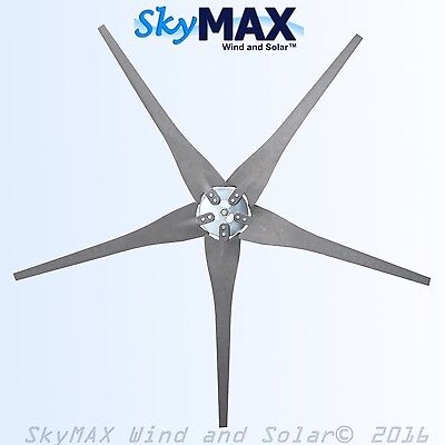 5 Raptor Gen 4 Carbon Fiber Gray Blades and Hub for Wind Turbine Generators