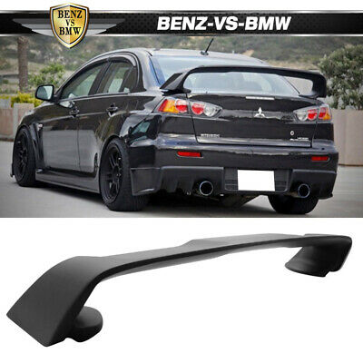 08-15 Mitsubishi Lancer EVO 10 ABS Rear Trunk Spoiler Wing Matte Black